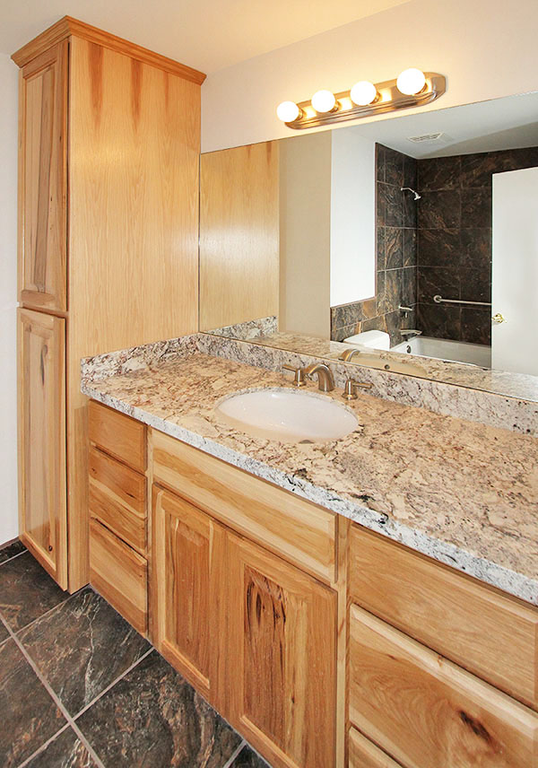 Guest Bathroom remodel at a home in Flagstaff Arizona