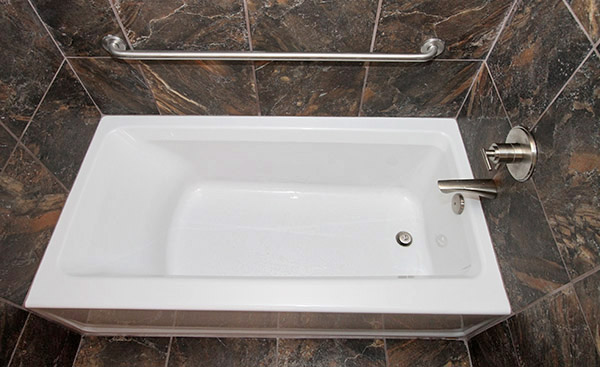 New soaker tub with ADA grab bar