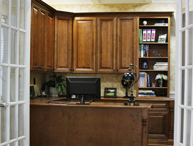 Office cabinets by Sollid Cabinetry