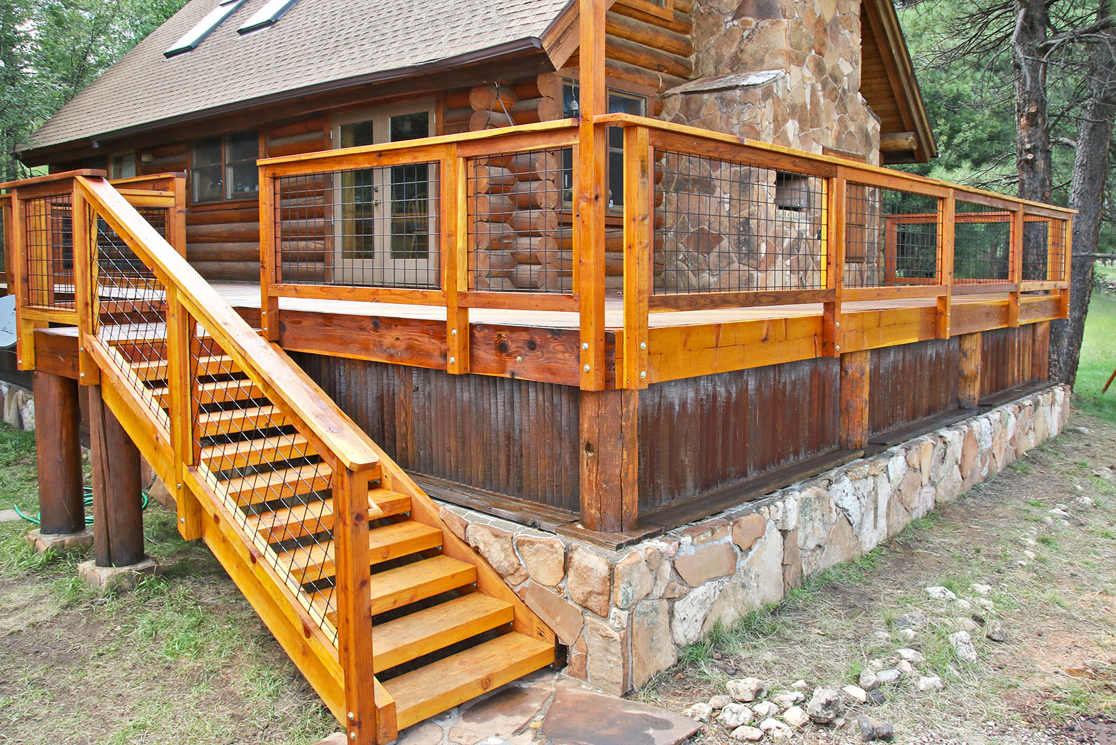 Trex decks for the flagstaff area for Log home decks