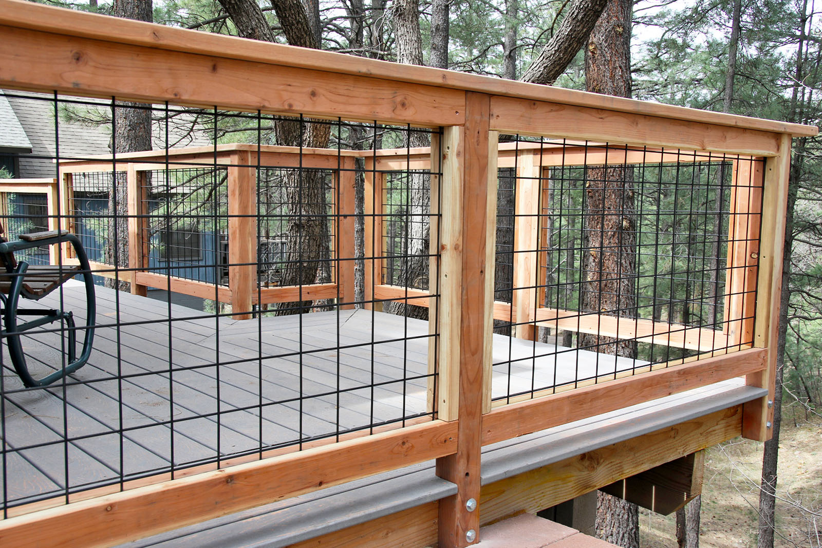 Wild Hog Brand Metal Deck Railing Installed On A Deck In Kachina Village  Near Flagstaff Arizona