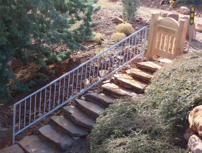 Custom Redwood Gate in Sedona