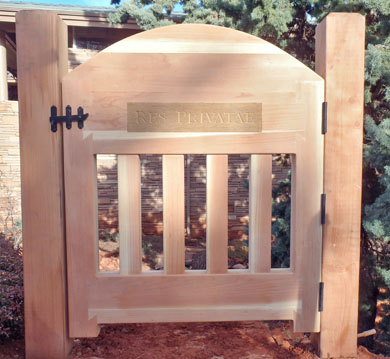 Redwood yard gate in Sedona