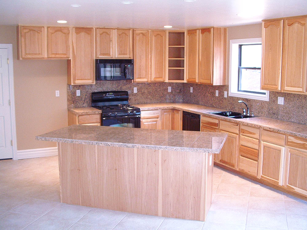 Custom Hickory cabinets and granite counters