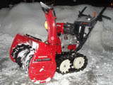 Snow blowing in Flagstaff Arizona with a Honda snowblower