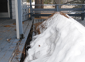 Deck collapsed from snow near Flagstaff Arizona